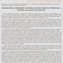 pidapi-asso.fr - 09 - POURSUIVRE LA MÉTHODE NATURELLE DE LECTURE ET D'ÉCRITURE : L'ÉTUDE LA LANGUE AU CYCLE III