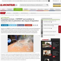 Poussières de bois : l'OPPBTP veut accélérer la recherche dans la prévention des risques d'exposition - 21/06/17