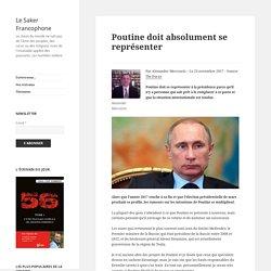 Poutine doit absolument se représenter
