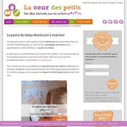 La poutre du temps Montessori à imprimer