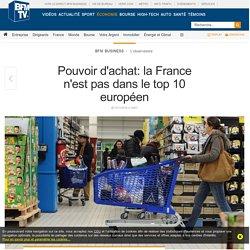 Pouvoir d'achat: la France n'est pas dans le top 10 européen