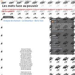 Analyse de chanson : Le Déserteur - Boris Vian