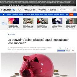 Le pouvoir d'achat a baissé : quel impact pour les Français?