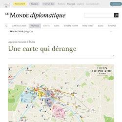 Lieux de pouvoir à Paris, une carte qui dérange (Le Monde diplomatique, février 2019)