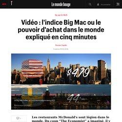 Vidéo : l'indice Big Mac ou le pouvoir d'achat dans le monde expliqué en cinq minutes - Vu sur le net