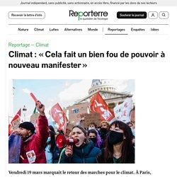 20 mars 2021 Climat: «Cela fait un bien fou de pouvoir à nouveau manifester»