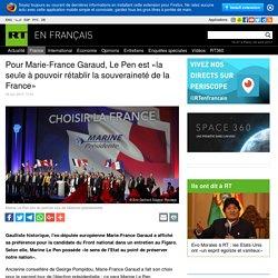 Pour Marie-France Garaud, Le Pen est «la seule à pouvoir rétablir la souveraineté de la France»
