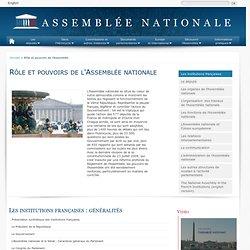 L'Assemblée nationale dans les institutions françaises (fiches de synthèse)