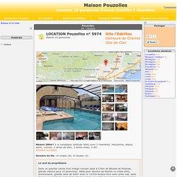 Maison Pouzolles - location 15 personnes Piscine chauffée 5 chambres