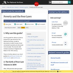 Poverty and the Poor Laws