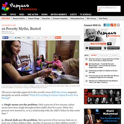10 Poverty Myths, Busted