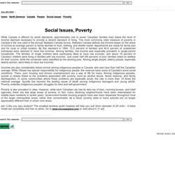 Poverty - Social Issues - People - Canada - North America: skid row, canadian city, poverty canada, poverty canada, statistics canada