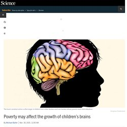 Poverty may affect the growth of children's brains