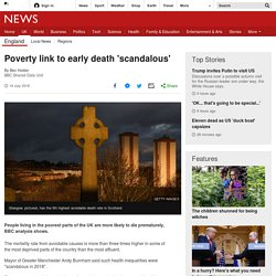 Poverty link to early death 'scandalous'