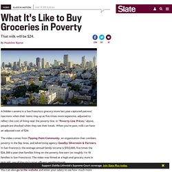 In poverty, groceries can be five times more expensive, as this video stunt shows.