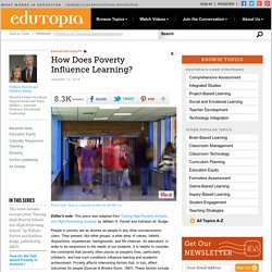 How Does Poverty Influence Learning?