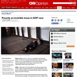 Poverty an invisible issue in GOP race