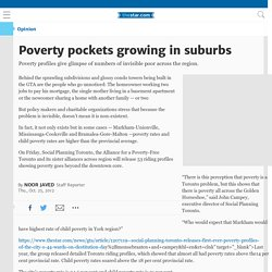 Poverty pockets growing in suburbs