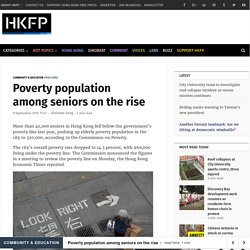 Poverty population among seniors on the rise
