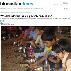 What has driven India's poverty reduction? - india news - Hindustan Times
