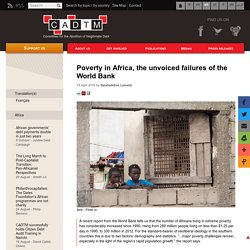 Poverty in Africa, the unvoiced failures of the World Bank