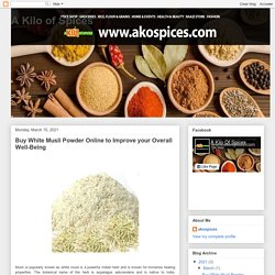 Buy White Musli Powder Online to Improve your Overall Well-Being