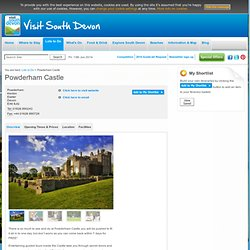 Powderham Castle - Castle/Fort in Exeter, Dawlish and Dawlish Warren - visitsouthdevon.co.uk