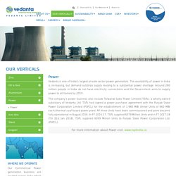 Thermal Power Generation Company in India - Vedanta Limited