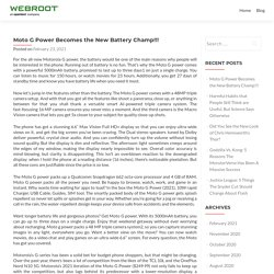 Moto G Power Becomes the New Battery Champ!!! - Webroot Login