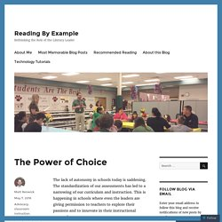 The Power of Choice – Reading By Example