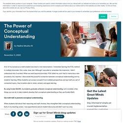 The Power of Conceptual Understanding