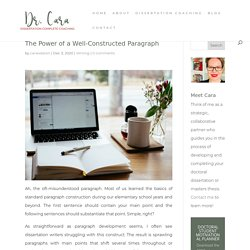The Power of a Well-Constructed Paragraph