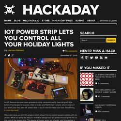 IoT Power Strip Lets you Control All Your Holiday Lights