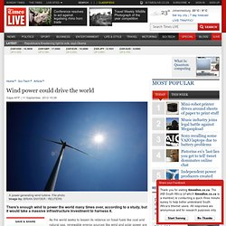 Wind power could drive the world