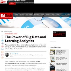 The Power of Big Data and Learning Analytics