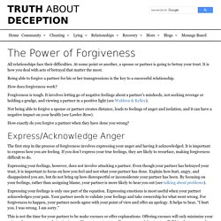 The Power of Forgiveness - Truth About Deception