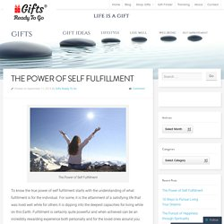 The Power of Self Fulfillment