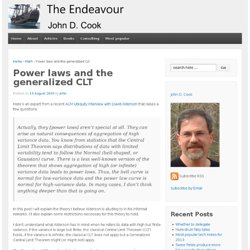Power laws and the generalized CLT