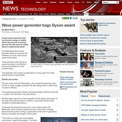 Wave power generator bags Dyson award