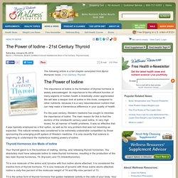 The Power of Iodine - 21st Century Thyroid