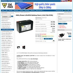 LP12V7AHP - 12V/7Ah - GWL/Power - Your Complete Power Solutions - EV-Power.eu