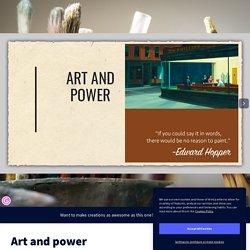 Art and power par mariane.joubin sur Genially
