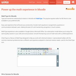 Math and science in Moodle