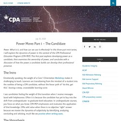 Power Move: Part 1 – The Candidate – CPAWSB Blog