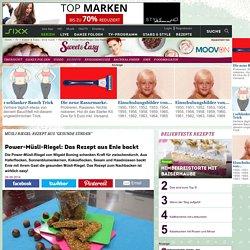Power-Müsli-Riegel: Das Rezept aus Enie backt