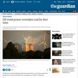 ***incl cumulative bar - UK wind power overtakes coal for first time