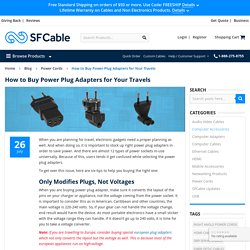 How to Buy Power Plug Adapters for Your Travels