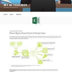 Power Query, Power Pivot et Power View – My BI Toolbox