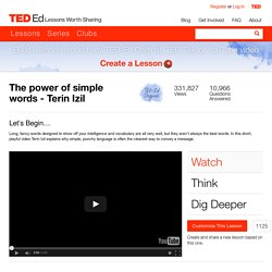 The power of simple words - Terin Izil