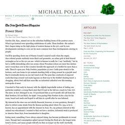 Power Steer « Michael Pollan